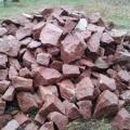 Бутовый камень кварцитовый фракции 100-400 мм розовый