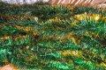 Мишура зеленая золотой кончик, длина 1.5м, диаметр 100мм.