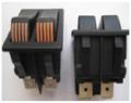 Выключатель двухклавишный без подсветки широкий 31х22мм 4 контакта 16А 220В Турция, ВК2-БП-Ш-4К, ВК2-БП-Ш-4К