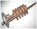 Тен 2000 W (1) спираль, фланец d63 ТХ, резьба под анод М6, медь. , М6320 SpТХ TW