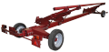 Tandem universal trolley for grain and corn headers