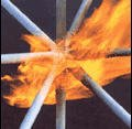 Coverings and structures fireproof