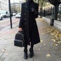 Пальто женское ткань кашемир длинное на пуговицах