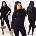 Женская стильная кофта большого размера с длинными рукавами