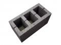 Блок стеновой керамзитобетонный трехпустотный 390х190х190