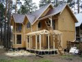 Construction of wooden houses, wooden houses from a bar, turnkey wooden houses across Ukraine, WHAT At home Kiev
