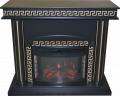 Kominek elektryczny z czarno-złotym portalem Afina (kominek)