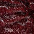 Ткань Гипюр реснички (бордовый) 5718