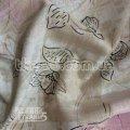 Ткань Лен органза ( цветы ) 791