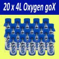 20 x Barrels of Oxygen - GoX - 4 Liters Pure Canned Oxygen Spray of 4 l of Oxygen