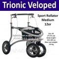 Легкий Алюминиевый Роллятор Trionic Veloped Sport Rollator 12er Medium 150 кг