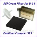 AEROvent Filter-Set D 4 f. Devilbiss Compact 525
