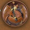 Скульптуры, тарелка рельефная(из серии тарелок по мотивам произведений Остапа Вышни).