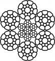 КАНАТ СТАЛЬНОЙ ДВОЙНОЙ СВИВКИ  STS 089.2  6х36(1+7+7/7+14)К+6x7(1+6)К+1x7(1+6)К