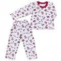 Пижама комбинированая с косой застежкой, модель 170144202- футер