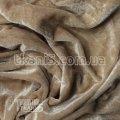 Ткань Велюр темный беж (УЦЕНКА)