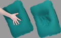 The pillow is orthopedic, Lasting (Lasting). Pillows orthopedic under a back and for the car. Orthopedic pillows.