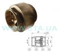 Клапан обратный трубопроводный Ду 65мм из латуни