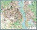 Карта Киева офисная на капе в раме
