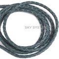 Кожаный плетеный шнур | 3,0 мм, Зеленый | SKY Австрия