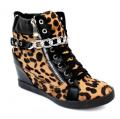 Сникерсы - кроссовки, ботинки женские, Леопардовые, Демисезонные.