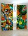 Фотошторы разноцветный витраж ART 0529