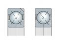 Подшипники с четырехточечным контактом с разъемным внутренним кольцом