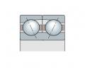 Подшипник двухрядный с двойным наружным кольцом
