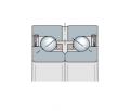 Подшипник упорно-радиальный двухрядный с углом контакта 60° прецизионный