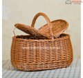 Basket for a picnic from an integral rod