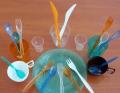 Посуд одноразовий оптом у Дніпропетровську (келихи, качани, ложки, ножі, серветки)