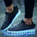 Кроссовки Yeezy Boost с LED подсветкой, светящиеся led лед кроссовки