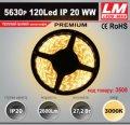 Светодиодная лента PREMIUM SMD 5630p 120Led IP20 WW