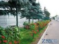 Забор из сварной сетки с полимерным покрытием  высотой 1.8м Секция ЭКО код SZE-0311