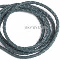 Leather wattled cord | 3,0 mm, Green | SKY Austria