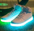 The shining high LED sneakers the shining sole