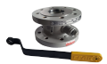 Кран шаровый EFAR (EFAWA) WK 2a dn65 для авто газа, LPG, пропан-бутана, ГНС, АГЗС клапан  фланцевый полнопроходной с компенсационным уплотнением шара.
