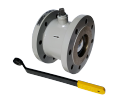 The crane sharovy EFAR (EFAWA) WK 2a dn100 for a car of gas, LPG, propane-butane, GNS, AGZS the valve flange full bore with compensation consolidation of a sphere.