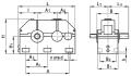 Редуктор цилиндрический горизонтальный двухступенчатый типа 1Ц2У, 1Ц2У-М и 1Ц2Н, 1Ц2Н-М с зацеплением новикова