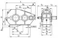 Редуктор цилиндрический горизонтальный двухступенчатый типа РМ, РМ-М