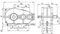 Редуктор цилиндрический горизонтальный крановый двухступенчатый типа РК, РК-М