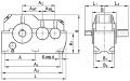 Редуктор цилиндрический горизонтальный двухступенчатый типа ЦДН, ЦДН-М