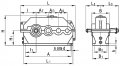 Редуктор цилиндрический горизонтальный трехступенчатый типа 1Ц3У, 1Ц3У-М