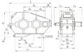 Редуктор цилиндрический горизонтальный трехступенчатый типа РМ, РМ-М