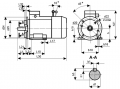 Electric motor with integrated electromagnetic brake
