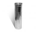 Труба-удлинитель с нержавеющей стали одностенная (0,8мм) L=0.5м Ø300