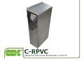 Grate supply and exhaust channel with a grid C-RPVC-200