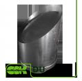 Крышный элемент вентиляции круглый из оцинкованной стали DU-800 ZS