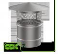 Крышный элемент вентиляции круглый из оцинкованной стали Z-250