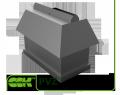 Крышный элемент вентиляции прямоугольный PVZ-1200